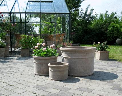 store havekrukker frostsikre Krukker, havekrukker, keramikdyr, zinkkrukker, krukker til haven. store havekrukker frostsikre